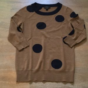 J. Crew polka dot sweater